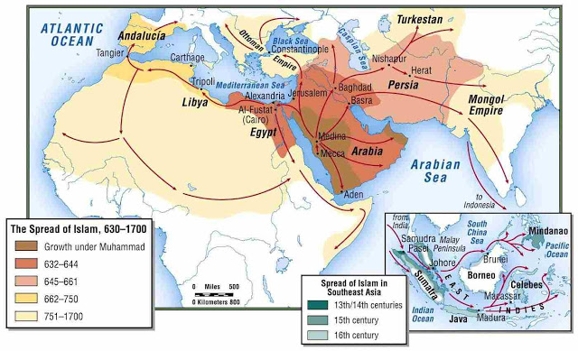 Ap World History The Age Of Exploration Where Is Our Next: Cool Map Shows The Spread Of Islam