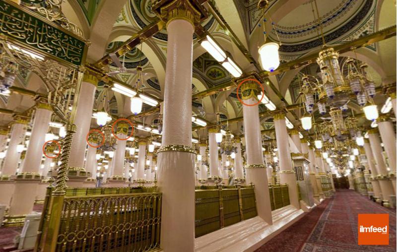 masjid nabi boundary pillars 2