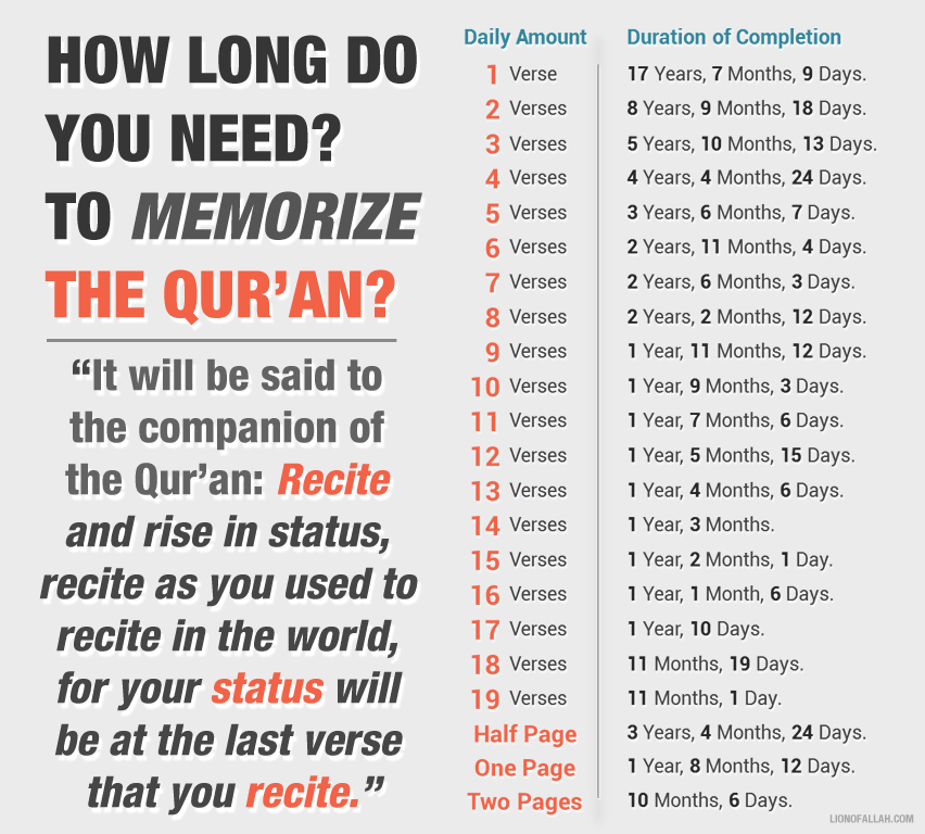 How Long Do You Need to Memorise the Entire Qur'an? - IlmFeed