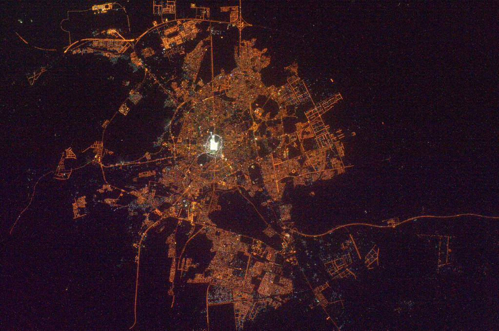 Image result for makkah from space nasa