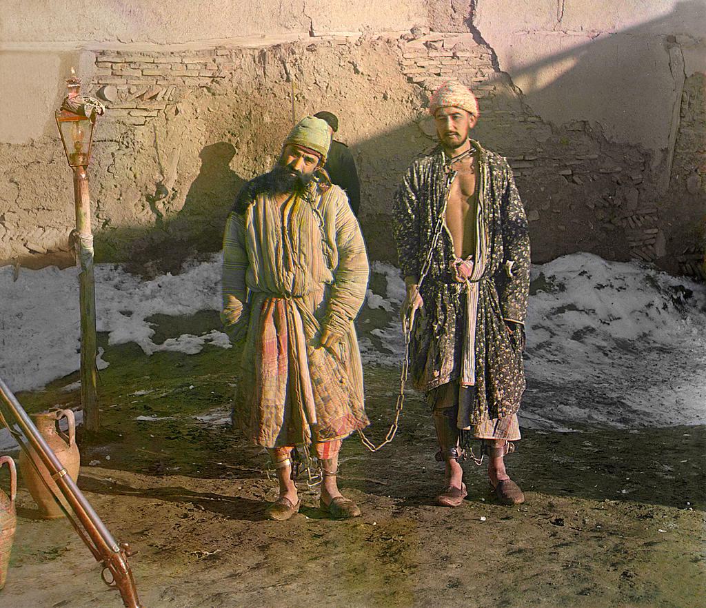 2 prisoners in shackles