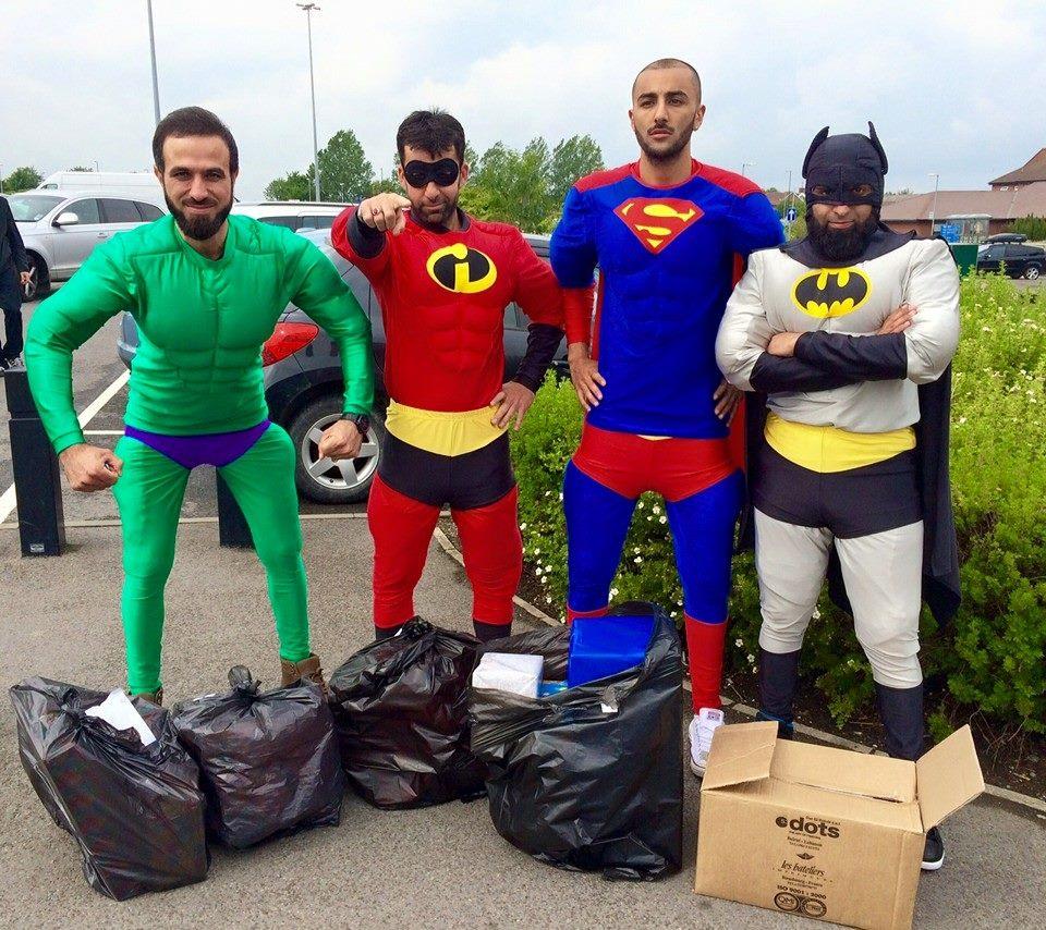4 superheroes