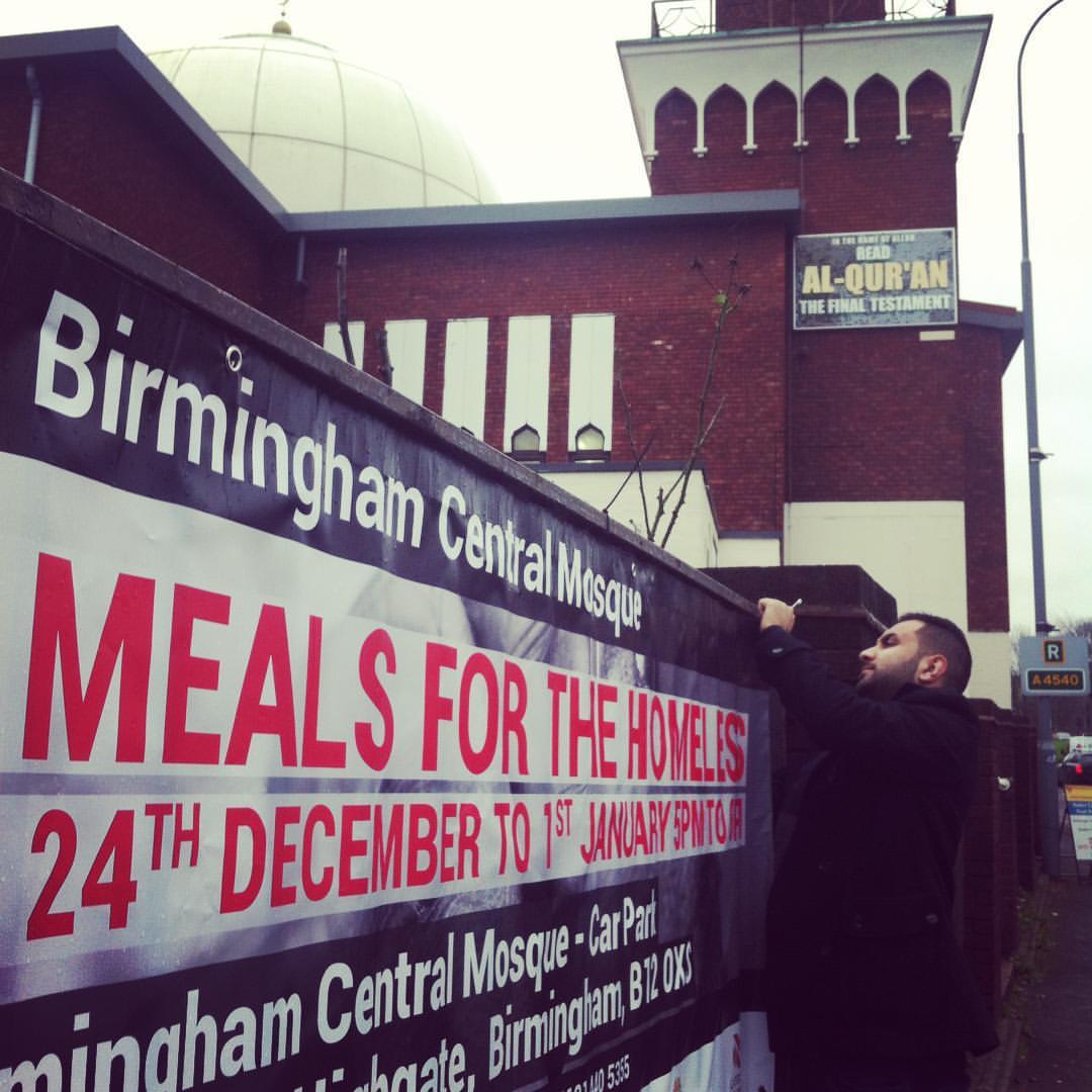 Bham Central Mosque Homeless