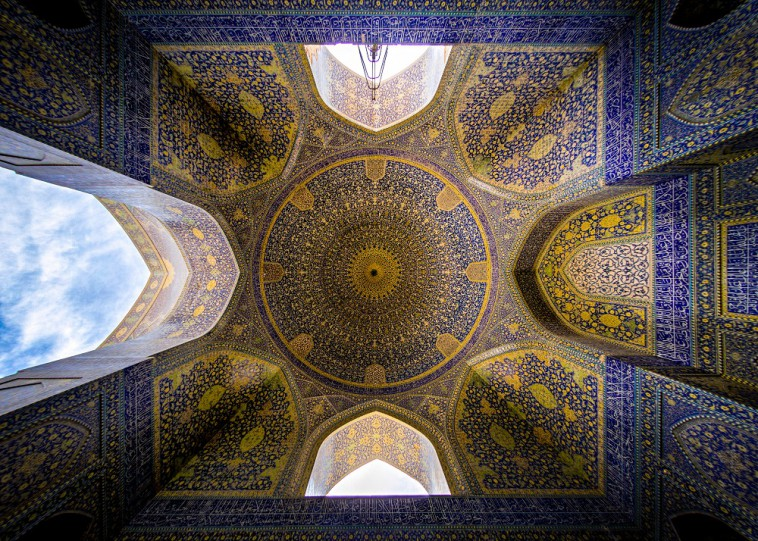 "The ""Shah Mosque"" also known as ""Emam Mosque"" , is a mosque in Isfahan, Iran, standing in south side of Naghsh-e Jahan Square. Built during the Safavid period."