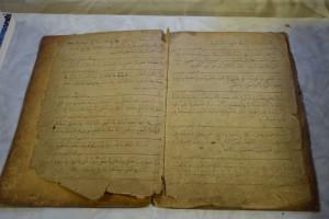 Old prayer book, handwritten