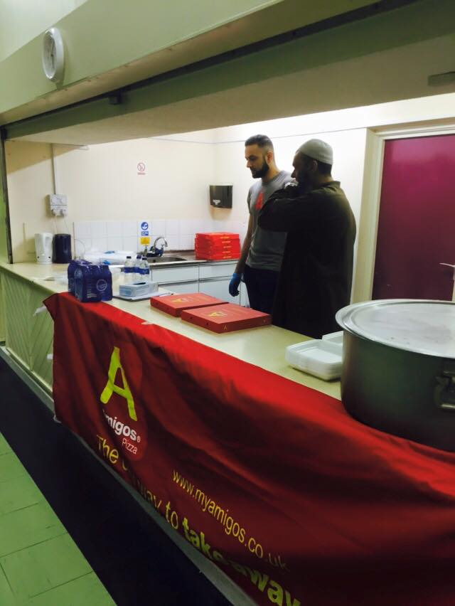 Muslims Serve Pizza And Biryani To Middlesbroughs Needy