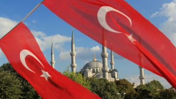 turkish flag mosque