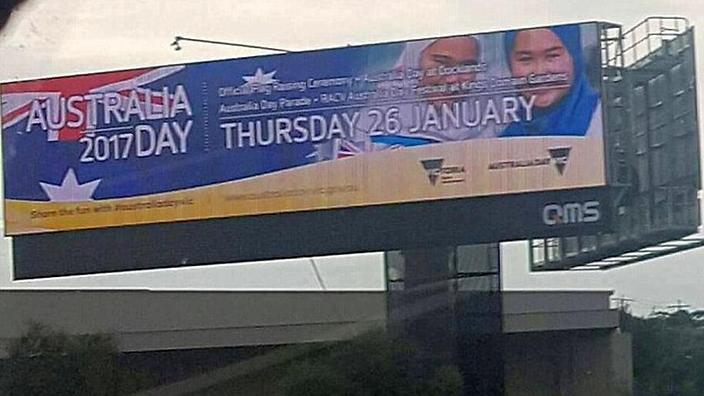 australia national day billboard