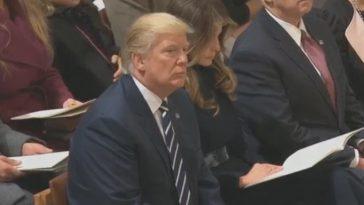 trump listens to quran