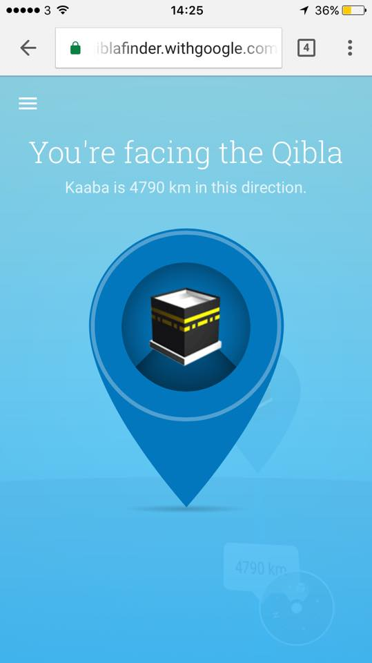 qibla finder on mobile
