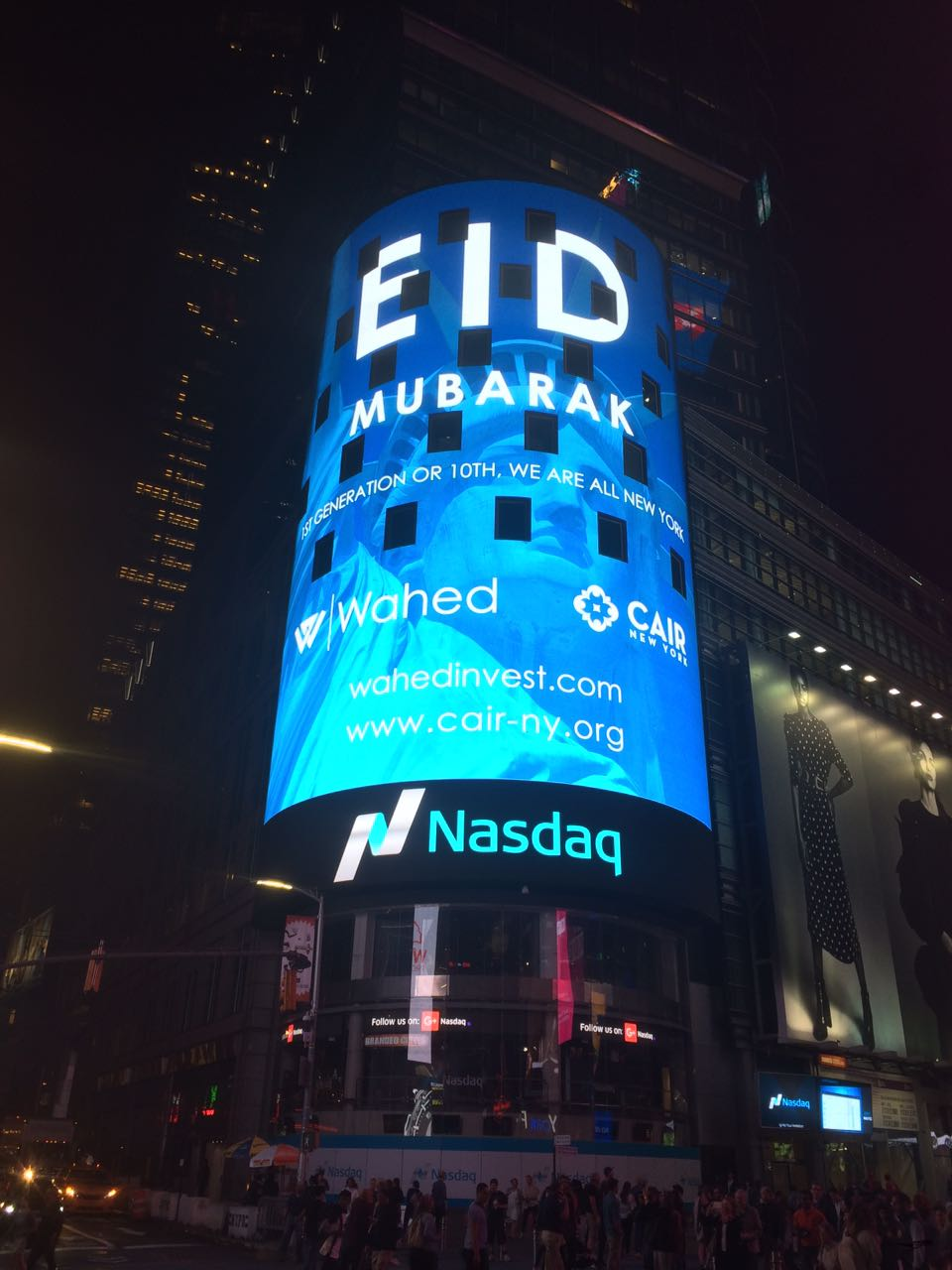Image result for NASDAQ Billboard: Eid Mubarak